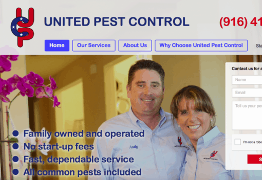New Rocklin Web design Launch: United Pest Control