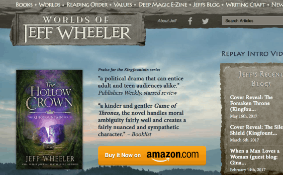 New Web Design Launch: Worlds of Jeff Wheeler