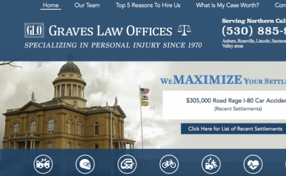 northern California web design launch: graves law offices