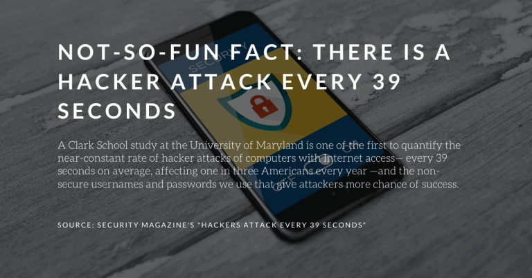 "Cybersecurity stats from Security Magazine | a featured image from the LOJO Marketing article ""11 Tips on How To Secure My WordPress Website""."