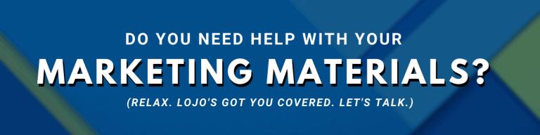 A banner ad for LOJO Marketing   www.lojomarketing.com