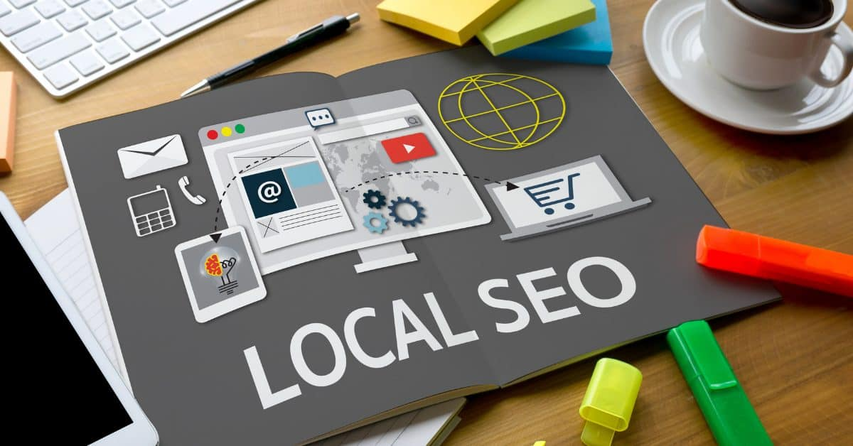 "A featured image from the article ""Local SEO vs. Regular SEO-- What's The Difference?"" by LOJO Marketing."