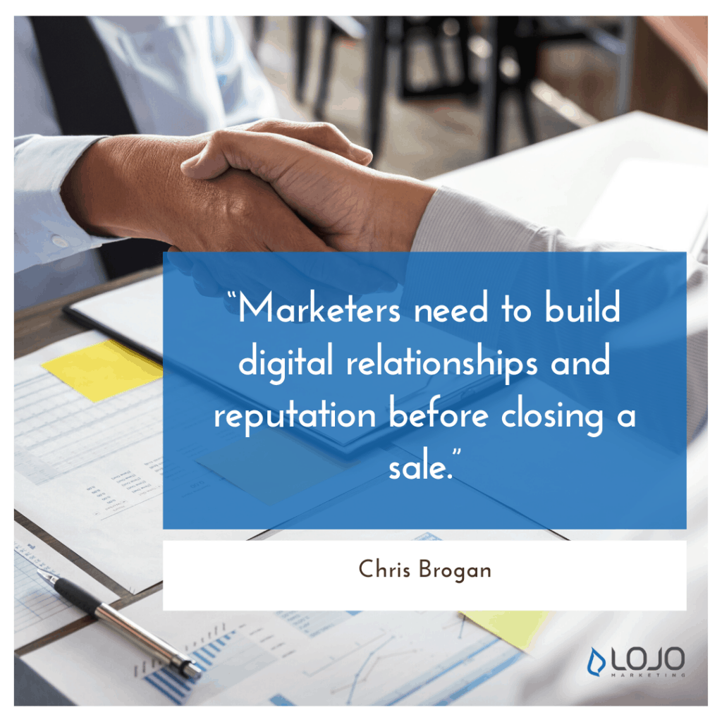 """A quote from Chris Brogan 