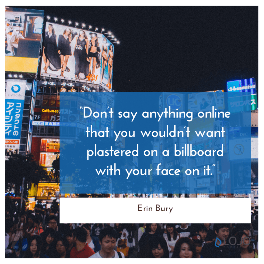 """A quote from Erin Bury 