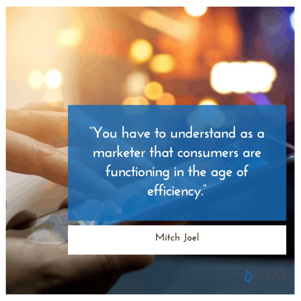 """A quote from Mitch Joel 