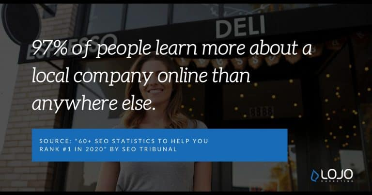 "A Local SEO quote from SEO Tribunal | A featured image from ""9 Actionable Local SEO Tips and Tricks (for Business Owners)"" by LOJO Marketing"