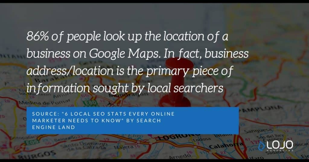 "A Local SEO quote from Search Engine Land | A featured image from ""What Do I Need To Know About Local SEO Ranking Factors?"" by LOJO Marketing"