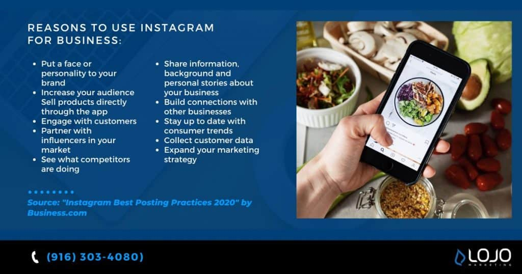 """Reasons to use Instagram for business 