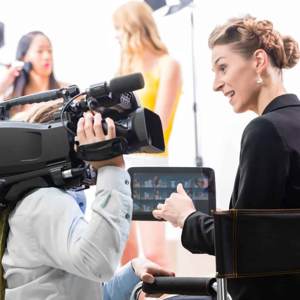 "A production crew getting ready to shoot an online web broadcast. A featured image from the LOJO Marketing article, ""Five Actionable Ways To More Effectively Promote Your Virtual Event""."