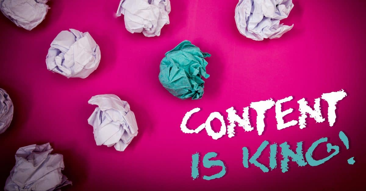 "A featured image from ""The Many Types of Content Marketing"", a blog post from LOJO Marketing 