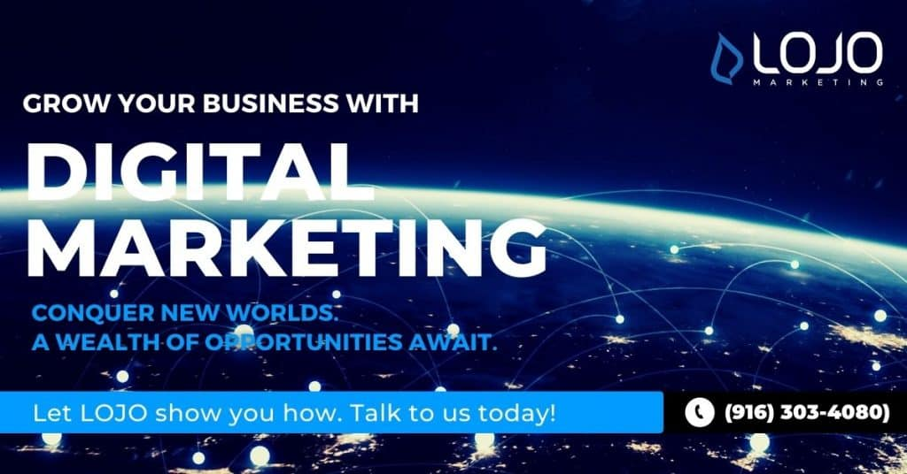 A banner ad promoting our services at LOJO Marketing.