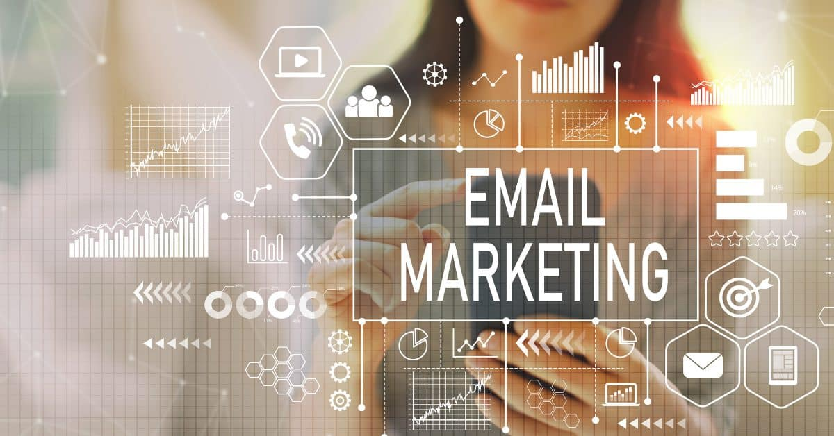 "A small business owner managing her business emails | a featured image from ""How Do I Build a Successful Email Marketing Campaign?"", an article from LOJO Marketing."