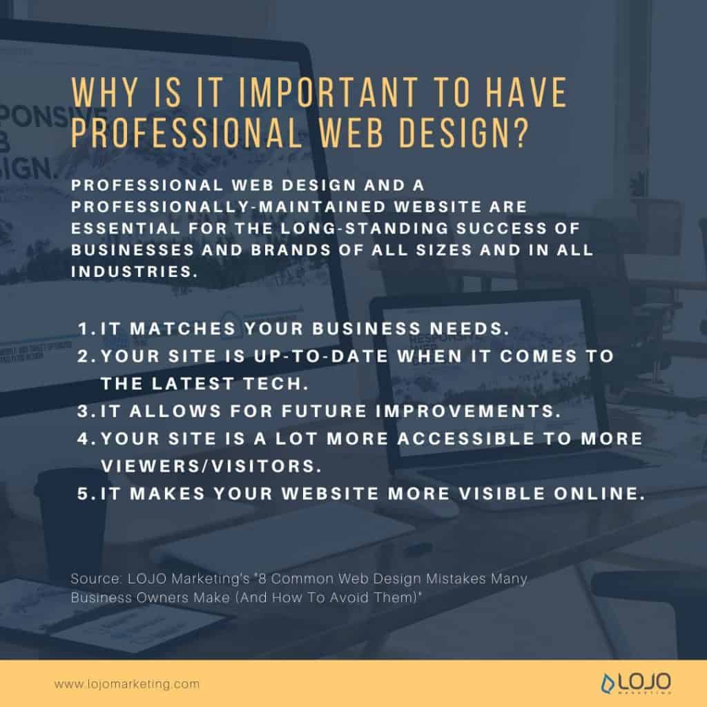 """A graphic about why it important is to have professional web design 