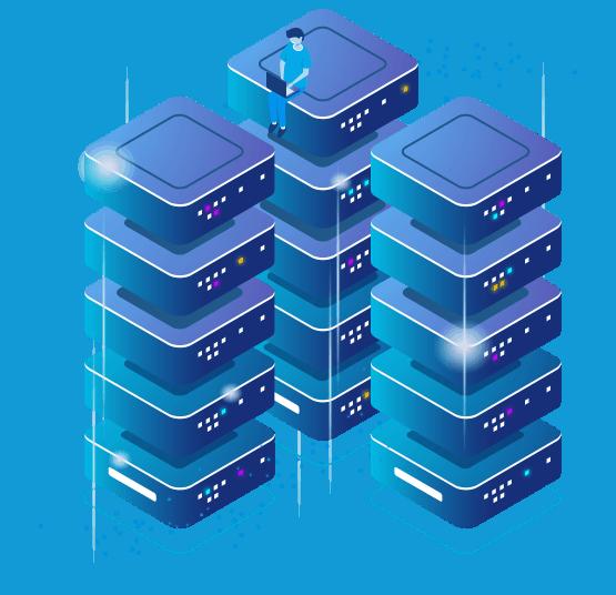 Hosting Server Stacked Graphic-Custom-LOJO Icon