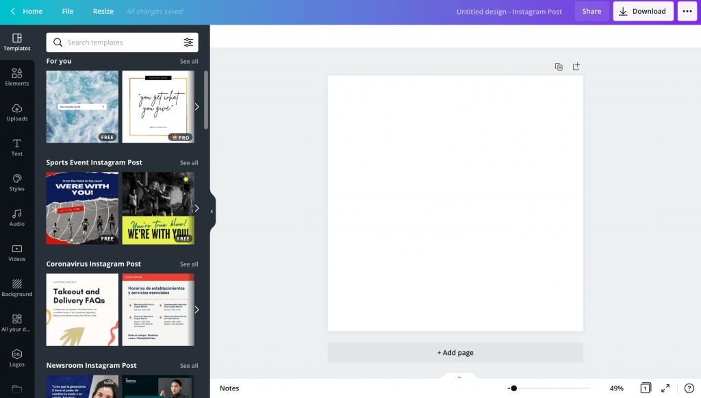 Social Media Tool - Canva